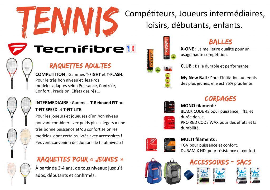tennis TECNIFIBRE descriptif Produits