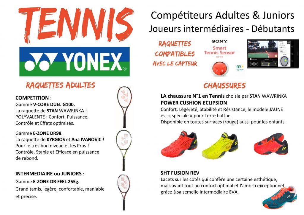 tennis YONEX descriptif Produits