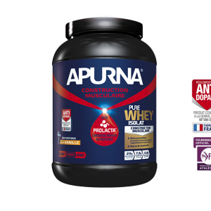 APURNA, pure whey isolat, cacao, vanille, fruits rouges