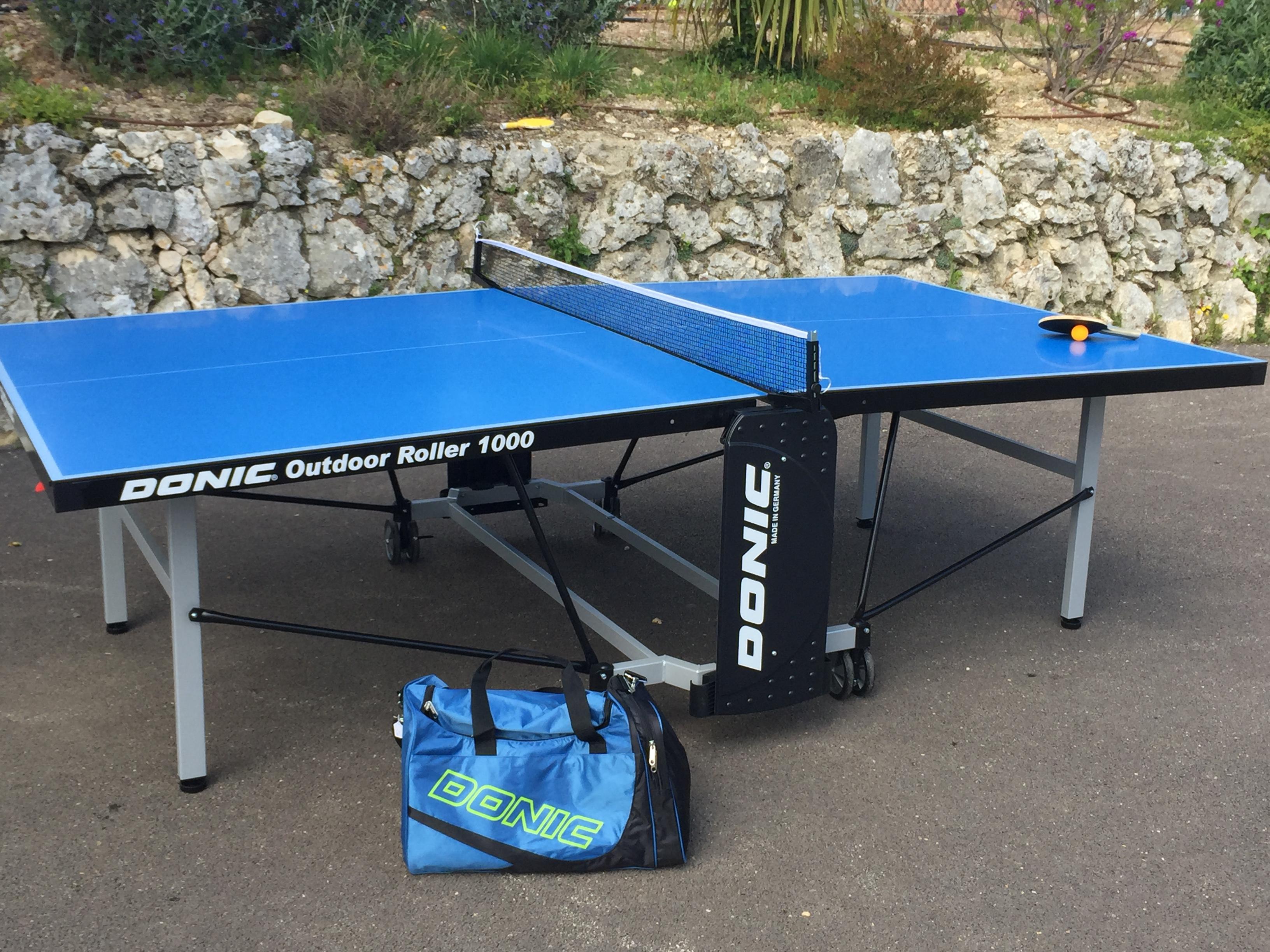 Donic table de ping pong en loisirs en ext rieur nice for Tennis de table exterieur